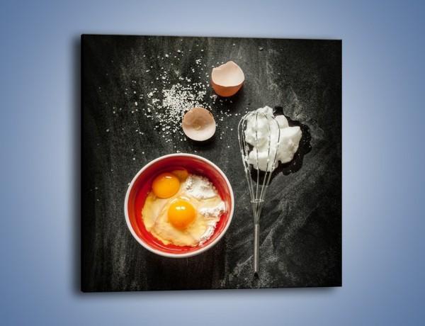 Obraz na płótnie – Ucieramy jajka na deser – jednoczęściowy kwadratowy JN659
