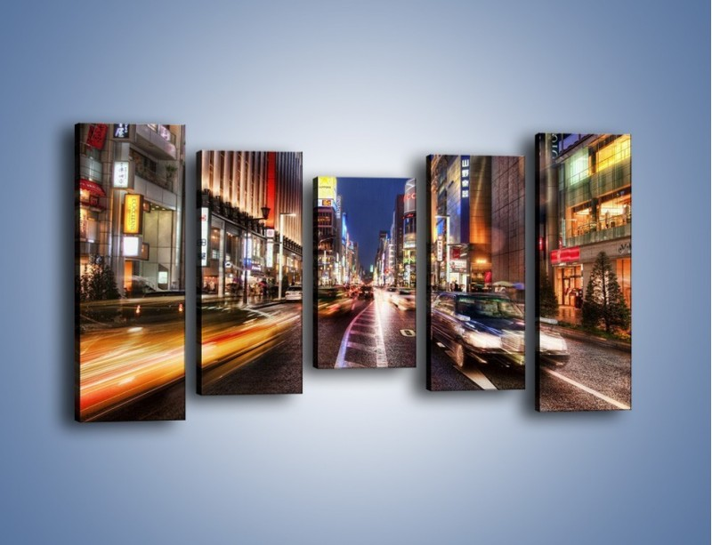 Obraz na płótnie – Tokyo w ruchu – pięcioczęściowy AM015W2