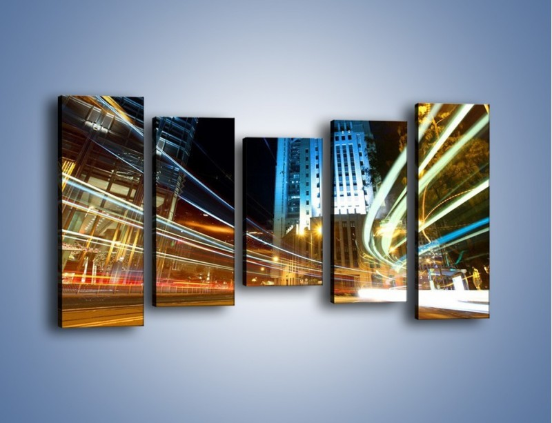 Obraz na płótnie – Światła w ruchu ulicznym – pięcioczęściowy AM048W2