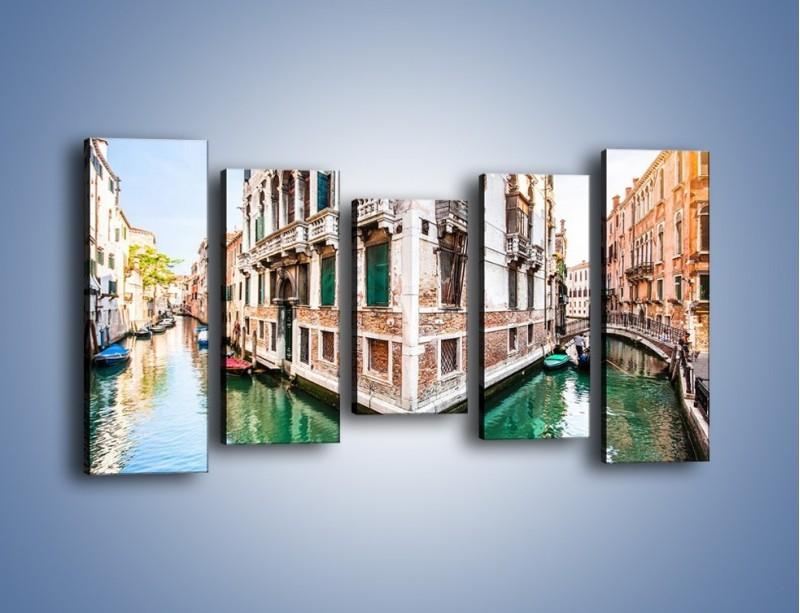 Obraz na płótnie – Skrzyżowanie wodne w Wenecji – pięcioczęściowy AM081W2