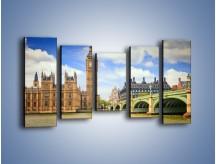 Obraz na płótnie – Big Ben w pochmurny dzień – pięcioczęściowy AM095W2