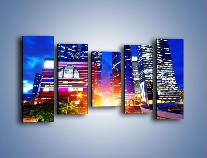 Obraz na płótnie – Miasto w żywych kolorach – pięcioczęściowy AM131W2