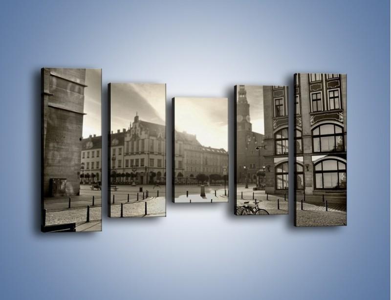 Obraz na płótnie – Rynek Starego Miasta – pięcioczęściowy AM136W2