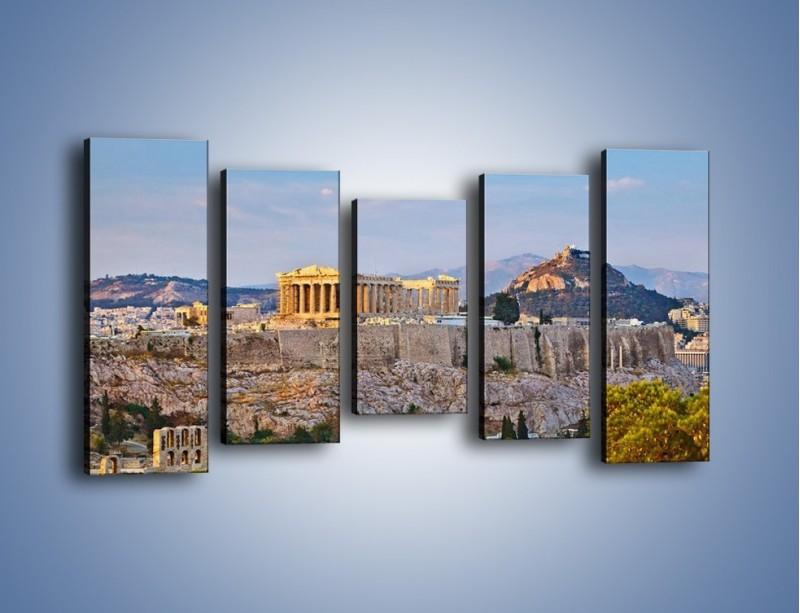 Obraz na płótnie – Ateńskie ruiny – pięcioczęściowy AM162W2