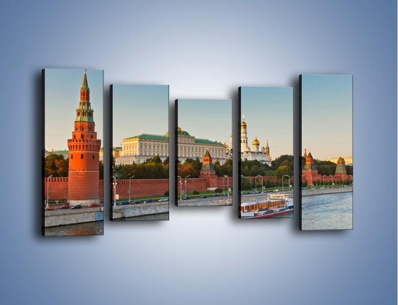 Obraz na płótnie – Kreml w środku lata – pięcioczęściowy AM164W2
