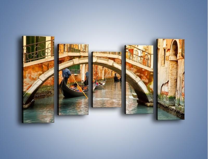 Obraz na płótnie – Weneckie gondole – pięcioczęściowy AM172W2
