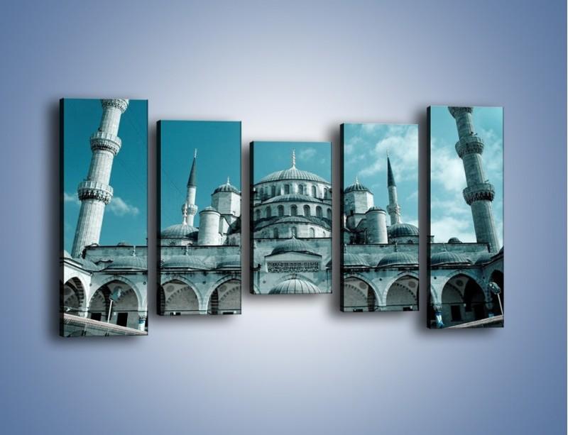 Obraz na płótnie – Taj Mahal – pięcioczęściowy AM175W2