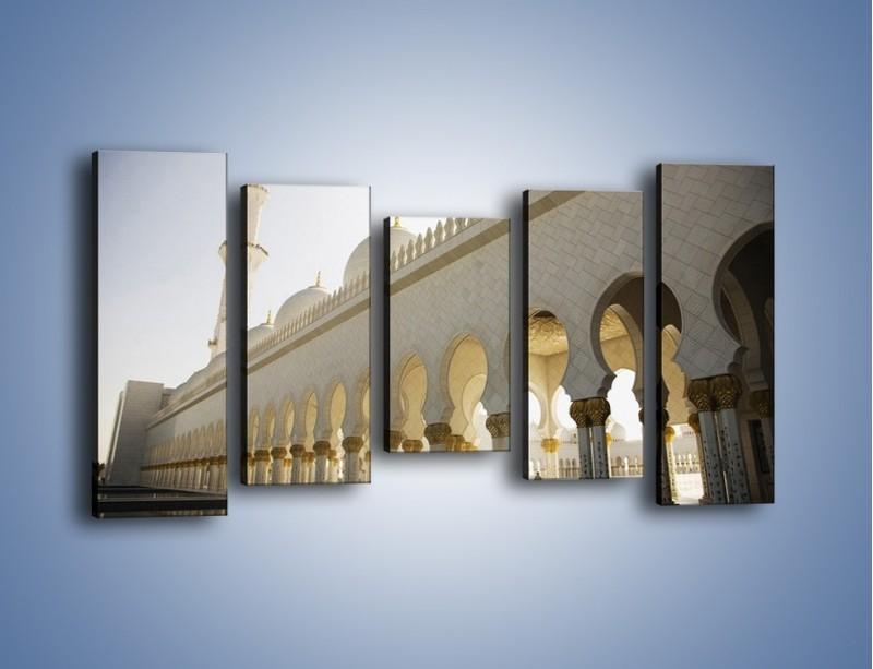 Obraz na płótnie – Bliskowschodnia architektura – pięcioczęściowy AM177W2