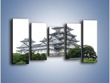 Obraz na płótnie – Azjatycka architektura – pięcioczęściowy AM181W2