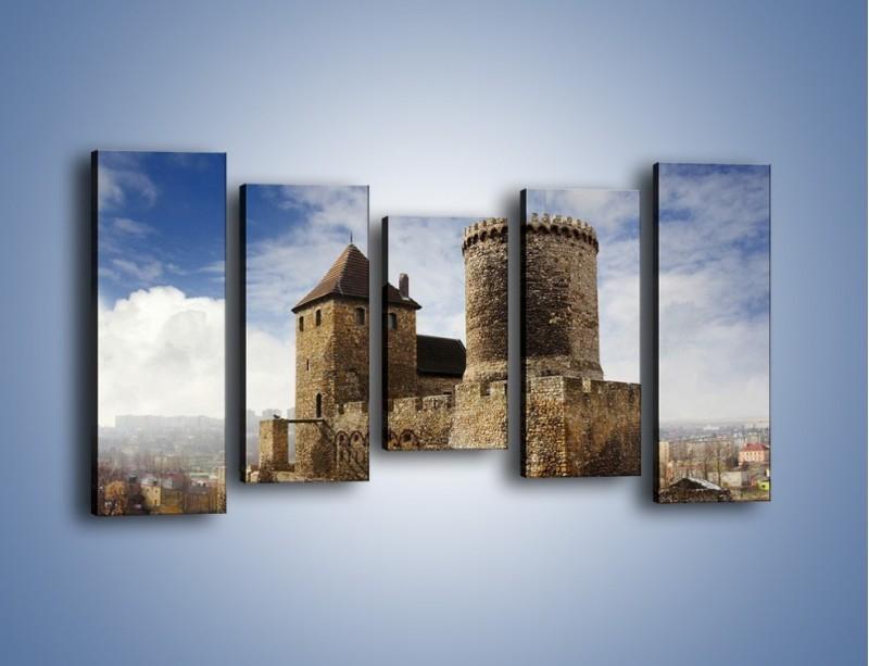 Obraz na płótnie – Średniowieczna fortyfikacja – pięcioczęściowy AM201W2