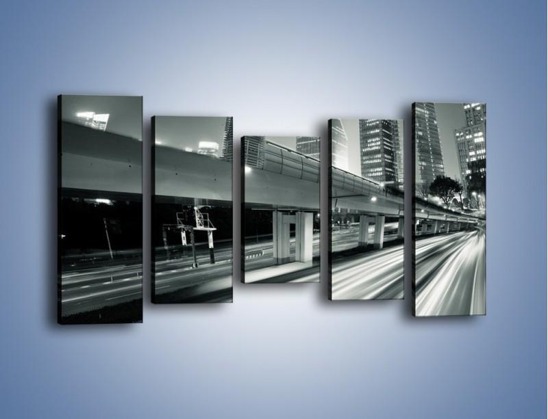 Obraz na płótnie – Miasto w odcieniach szarości – pięcioczęściowy AM205W2