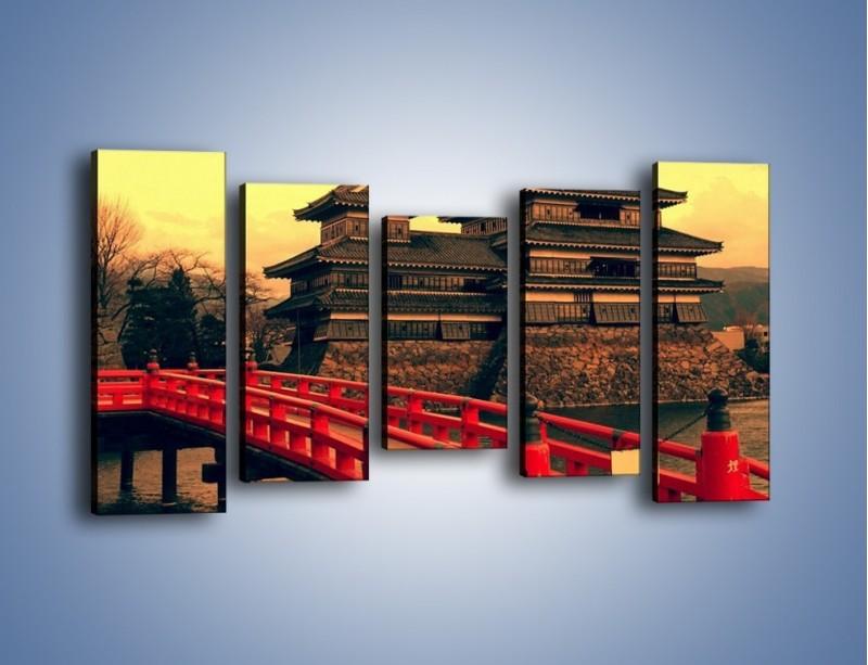 Obraz na płótnie – Japońska architektura – pięcioczęściowy AM235W2