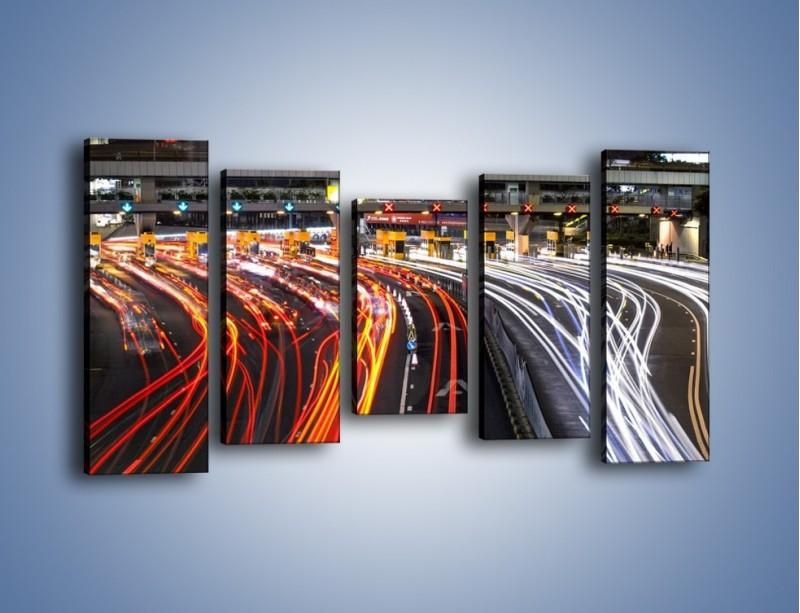 Obraz na płótnie – Autostradowa bramka w ruchu świateł – pięcioczęściowy AM236W2