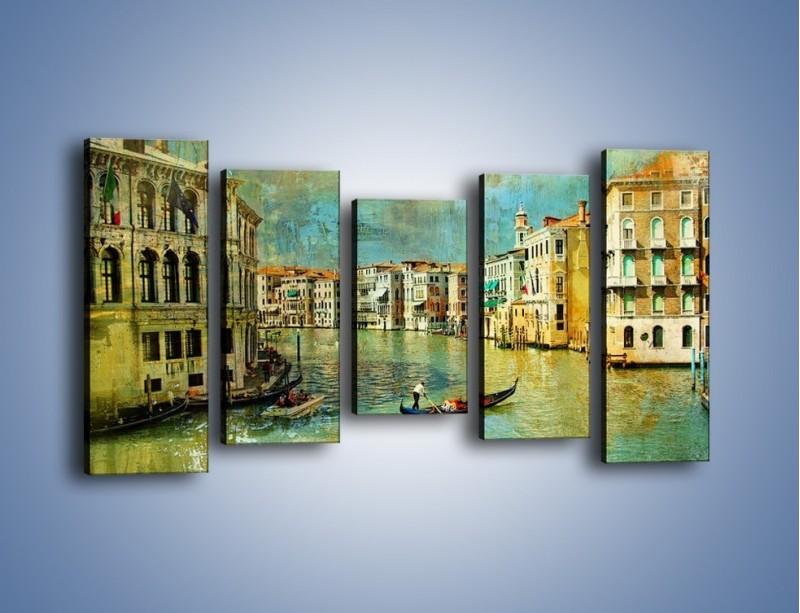 Obraz na płótnie – Weneckie lato w stylu vintage – pięcioczęściowy AM245W2