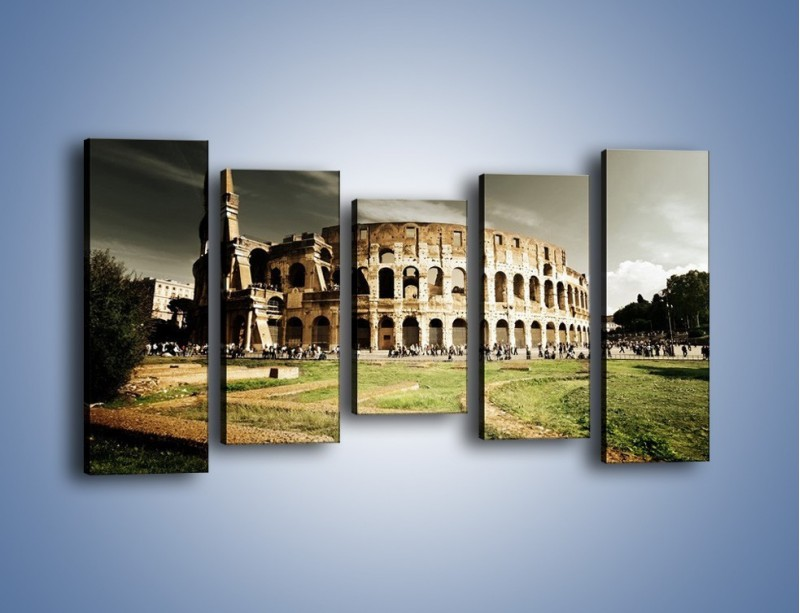 Obraz na płótnie – Koloseum przed burzą – pięcioczęściowy AM271W2