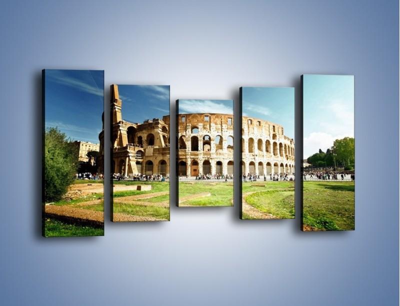 Obraz na płótnie – Koloseum w piękny dzień – pięcioczęściowy AM273W2