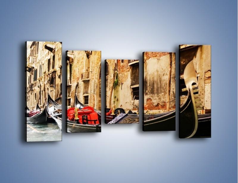 Obraz na płótnie – Wenecka gondola – pięcioczęściowy AM286W2