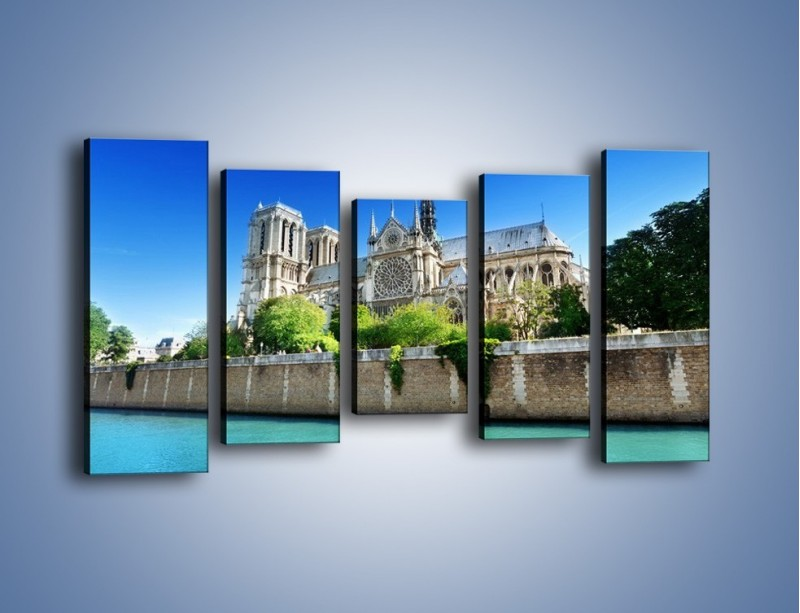 Obraz na płótnie – Katedra Notre-Dame – pięcioczęściowy AM305W2