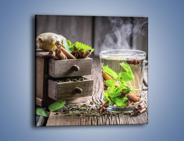 Obraz na płótnie – Herbata z duża ilością dodatków – jednoczęściowy kwadratowy JN667