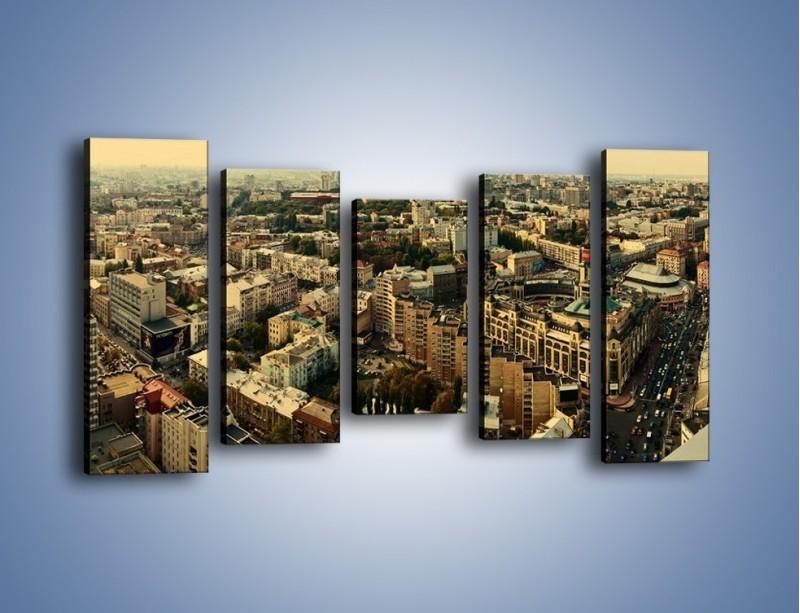 Obraz na płótnie – Panorama Kijowa – pięcioczęściowy AM326W2