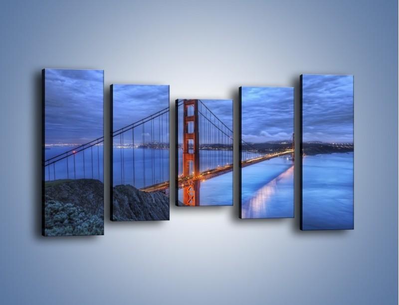 Obraz na płótnie – Most Golden Gate – pięcioczęściowy AM328W2