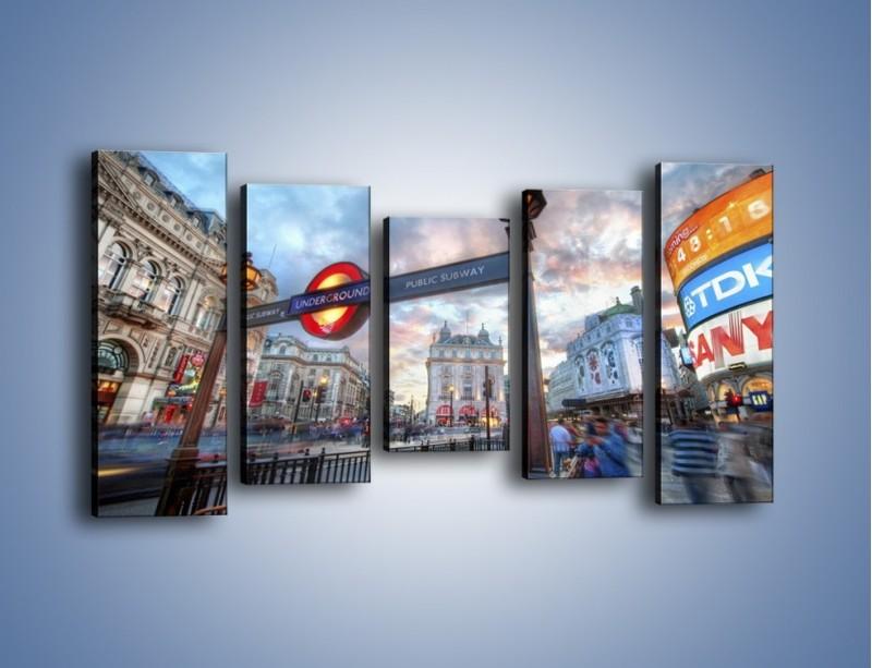 Obraz na płótnie – Wejście do londyńskiego metro – pięcioczęściowy AM334W2