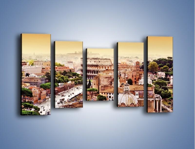 Obraz na płótnie – Panorama Rzymu – pięcioczęściowy AM338W2