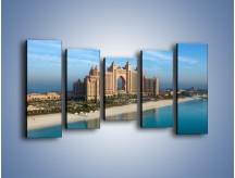 Obraz na płótnie – Atlantis Hotel w Dubaju – pięcioczęściowy AM341W2