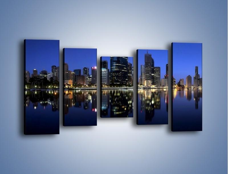 Obraz na płótnie – Brisbane w Australii nocą – pięcioczęściowy AM354W2