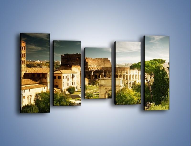 Obraz na płótnie – Ruiny starożytnego Rzymu – pięcioczęściowy AM357W2