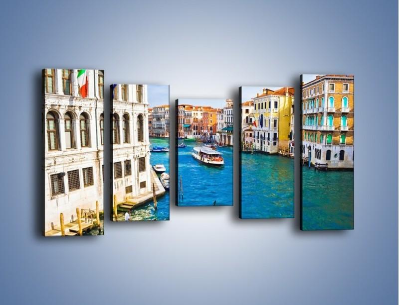 Obraz na płótnie – Kolorowy świat Wenecji – pięcioczęściowy AM362W2