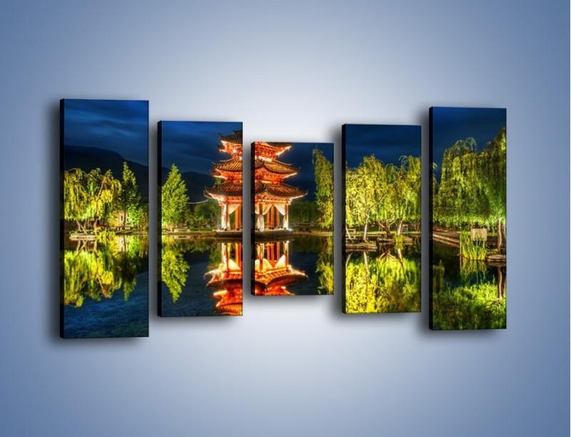 Obraz na płótnie – Urokliwy park w Chinach – pięcioczęściowy AM365W2