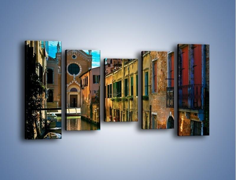 Obraz na płótnie – Cały urok Wenecji w jednym kadrze – pięcioczęściowy AM371W2