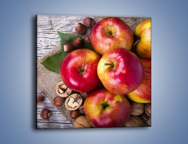 Obraz na płótnie – Jabłka z orzechami – jednoczęściowy kwadratowy JN669