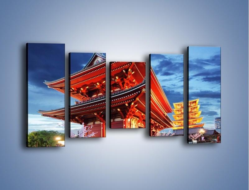 Obraz na płótnie – Świątynia Senso-ji w Tokyo – pięcioczęściowy AM378W2