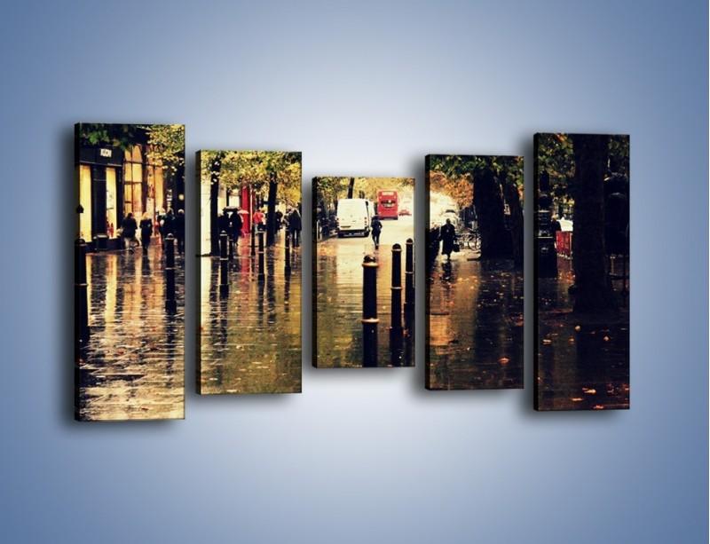 Obraz na płótnie – Deszczowa jesień w Moskwie – pięcioczęściowy AM383W2