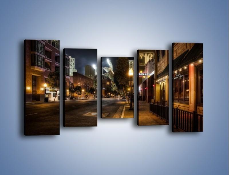 Obraz na płótnie – Ulica San Diego w Kaliforni – pięcioczęściowy AM390W2