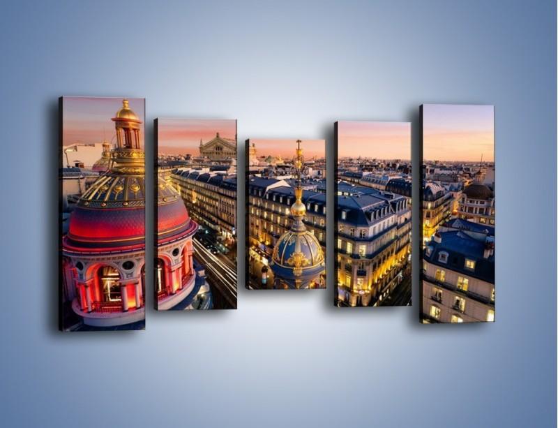 Obraz na płótnie – Paryska architektura – pięcioczęściowy AM402W2