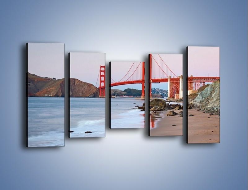 Obraz na płótnie – Most Golden Gate – pięcioczęściowy AM406W2