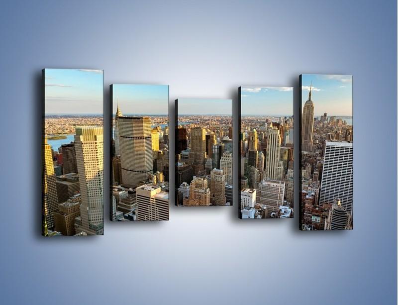 Obraz na płótnie – Manhattan w Nowym Yorku – pięcioczęściowy AM412W2