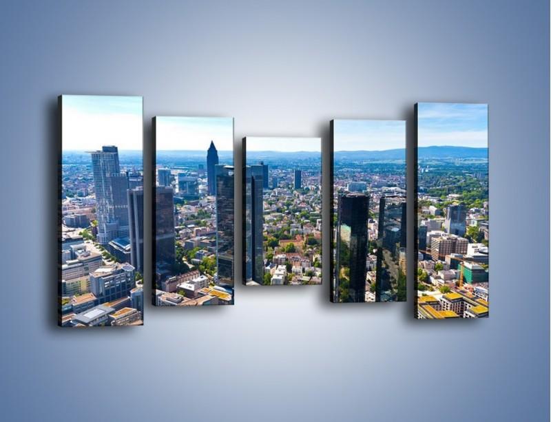 Obraz na płótnie – Panorama Frankfurtu – pięcioczęściowy AM414W2