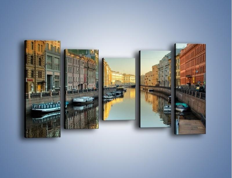 Obraz na płótnie – Kanał wodny w St. Petersburgu – pięcioczęściowy AM422W2