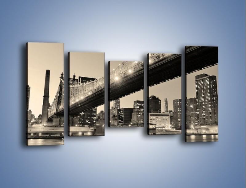 Obraz na płótnie – Most Qeensboro w Nowym Yorku – pięcioczęściowy AM438W2