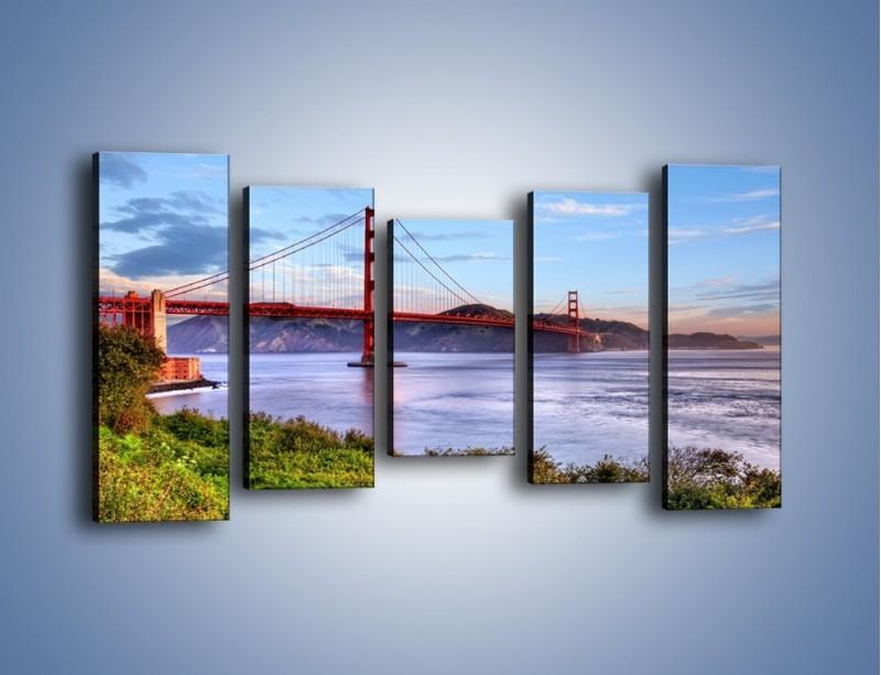 Obraz na płótnie – Most Golden Gate w San Francisco – pięcioczęściowy AM444W2