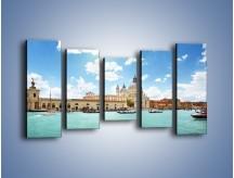 Obraz na płótnie – Canal Grande w Wenecji – pięcioczęściowy AM449W2
