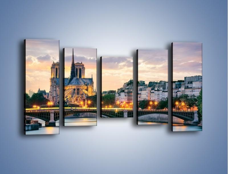 Obraz na płótnie – Katedra Notre Dame – pięcioczęściowy AM454W2