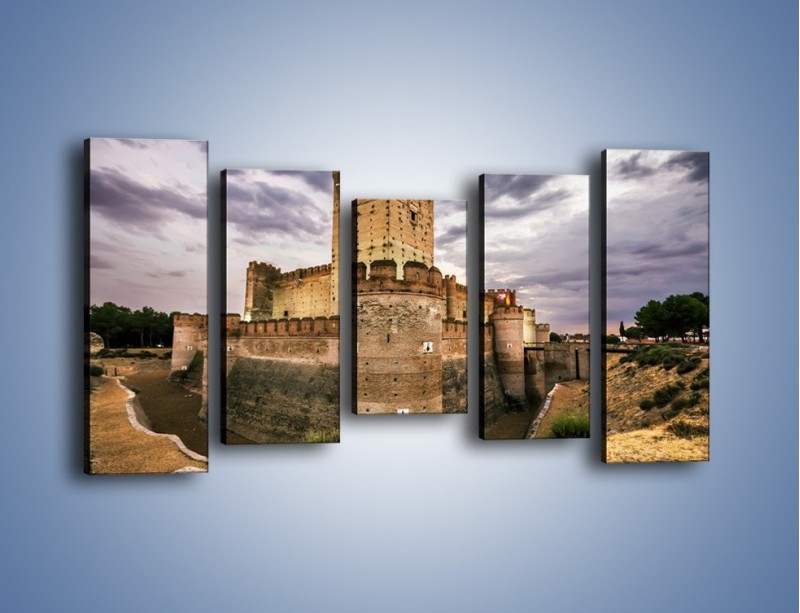 Obraz na płótnie – Zamek La Mota w Hiszpanii – pięcioczęściowy AM457W2