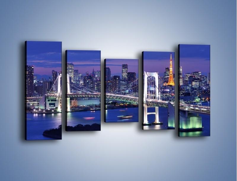 Obraz na płótnie – Tęczowy Most w Tokyo – pięcioczęściowy AM460W2