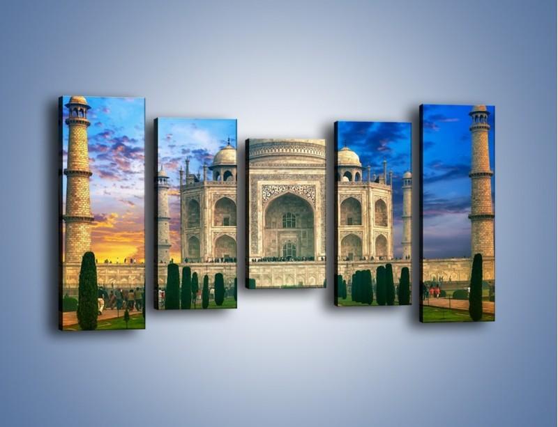 Obraz na płótnie – Tadź Mahal pod niebieskim niebem – pięcioczęściowy AM466W2
