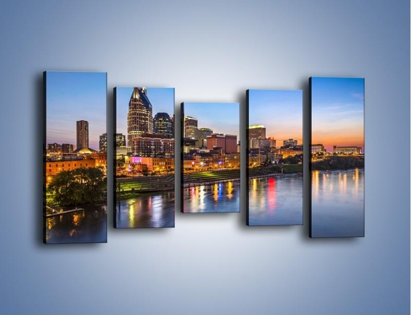 Obraz na płótnie – Nashville nad rzeką Cumberland – pięcioczęściowy AM491W2